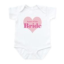 Aunt of the Bride pink heart Onesie