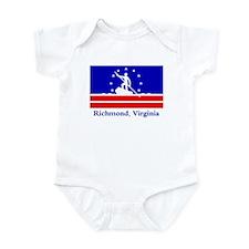 Richmond VA Flag Infant Bodysuit