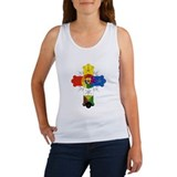 Rose Cross Women's Tank Top