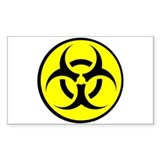 Biohazard Rectangle Decal