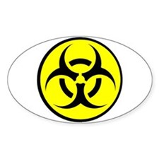 Biohazard Oval Decal