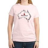 I Love Australia Map with Heart T-Shirt