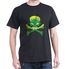 Evil Green Skull Dark T-Shirt
