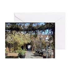 Santa Fe courtyard Greeting Cards (Pk of 10)