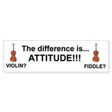Violin Fiddle Attitude! Bumper Bumper Stickers