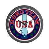 USA Bong Team Wall Clock
