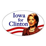 Iowa for Clinton Oval Bumper Sticker