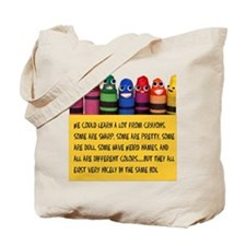 Peaceful Crayons Tote Bag