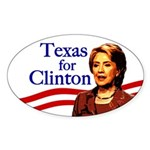 Oval Texas for Clinton Bumper Sticker