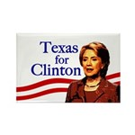 Texas for Clinton Rectangle Magnet