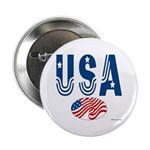 USA stars & stripes flag Button