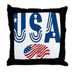 USA stars & stripes flag Throw Pillow