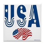 USA stars & stripes flag Tile Coaster