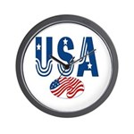 USA stars & stripes flag Wall Clock