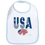 USA stars & stripes flag Bib