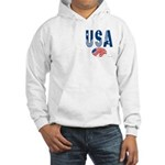 USA stars & stripes flag Hooded Sweatshirt