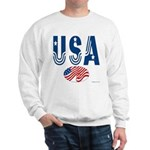USA stars & stripes flag Sweatshirt