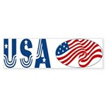 USA stars & stripes flag Bumper Sticker
