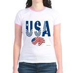 USA stars & stripes flag Jr. Ringer T-shirt