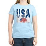 USA stars & stripes flag Women's Pink T-Shirt