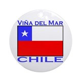 Vina del Mar, Chile Ornament (Round)