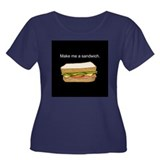Make Me A Sandwich Women's Plus Size Scoop Neck Da
