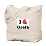 I (Heart) Greta Tote Bag