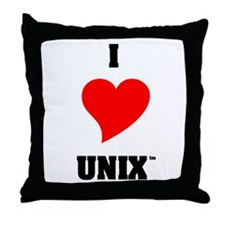 Unix Lovers Throw Pillow
