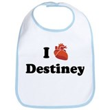I (Heart) Destiney Bib