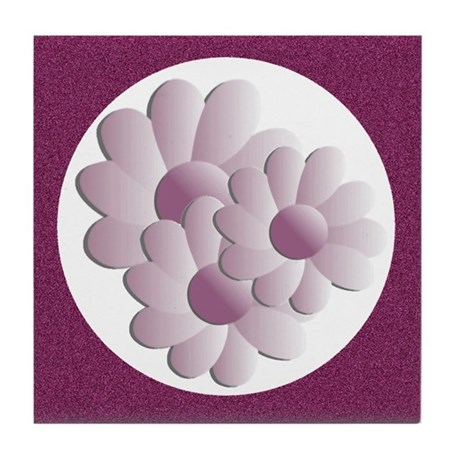 Pretty Daisy Trio - Pink Tile Coaster