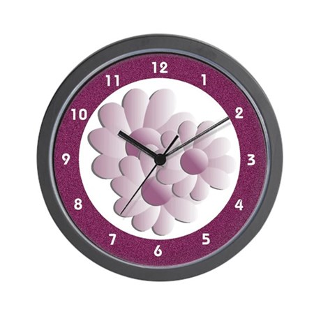 Pretty Daisy Trio - Pink Wall Clock