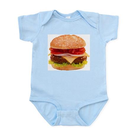 yummy cheeseburger photo Infant Bodysuit