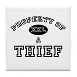 Property of a Thief Tile Coaster
