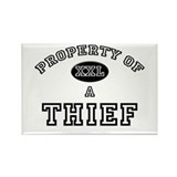 Property of a Thief Rectangle Magnet