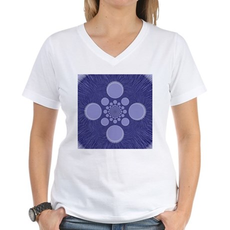 Fractal Women's V-Neck T-Shirt