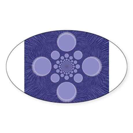 Fractal Oval Sticker