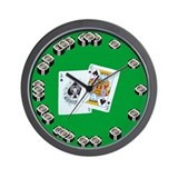 Poker Chip Wall Clock