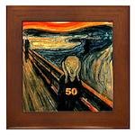 Scream 50th Framed Tile