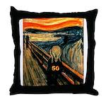 Scream 50th Throw Pillow