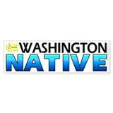 Washington native (bumper sticker 10x3)