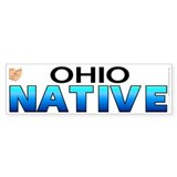Ohio native (bumper sticker 10x3)