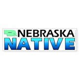 Nebraska native (bumper sticker 10x3)
