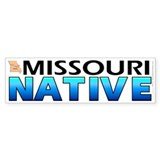 Missouri native (bumper sticker 10x3)