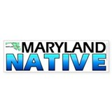 Maryland native (bumper sticker 10x3)