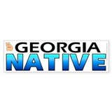 Georgia native (bumper sticker 10x3)