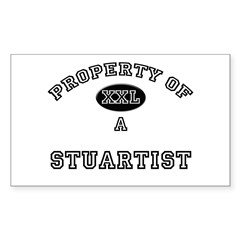 Property of a Stuartist Rectangle Sticker