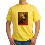 Lincoln's English Bulldog Yellow T-Shirt