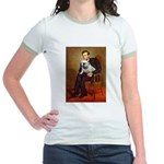 Lincoln's English Bulldog Jr. Ringer T-Shirt