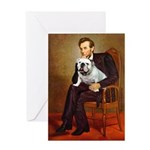 Lincoln's English Bulldog Greeting Card