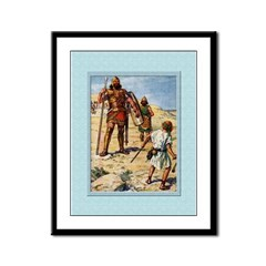 David and Goliath-Brock-9x12 Framed Print